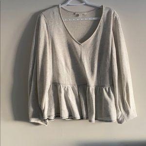Anthropologie - Peplum Sweater